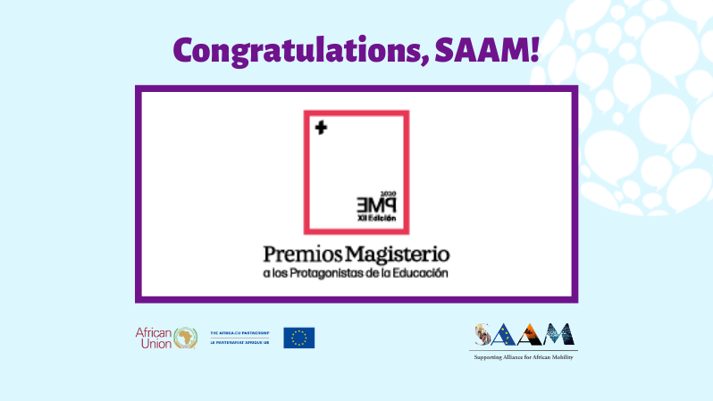 SAAM has been awarded as one of the Spanish Protagonists of Education 2020